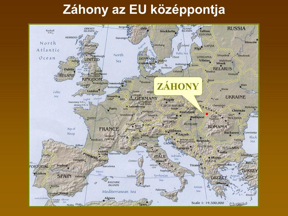 Záhony az EU középpontja