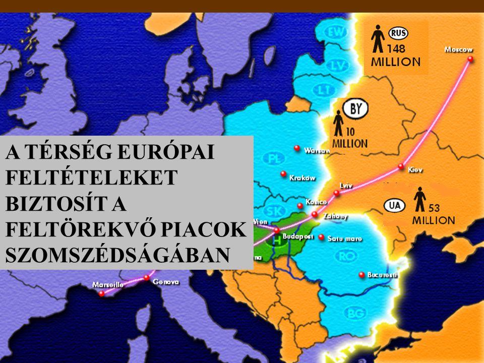 A TÉRSÉG EURÓPAI FELTÉTELEKET BIZTOSÍT A FELTÖREKVŐ PIACOK SZOMSZÉDSÁGÁBAN