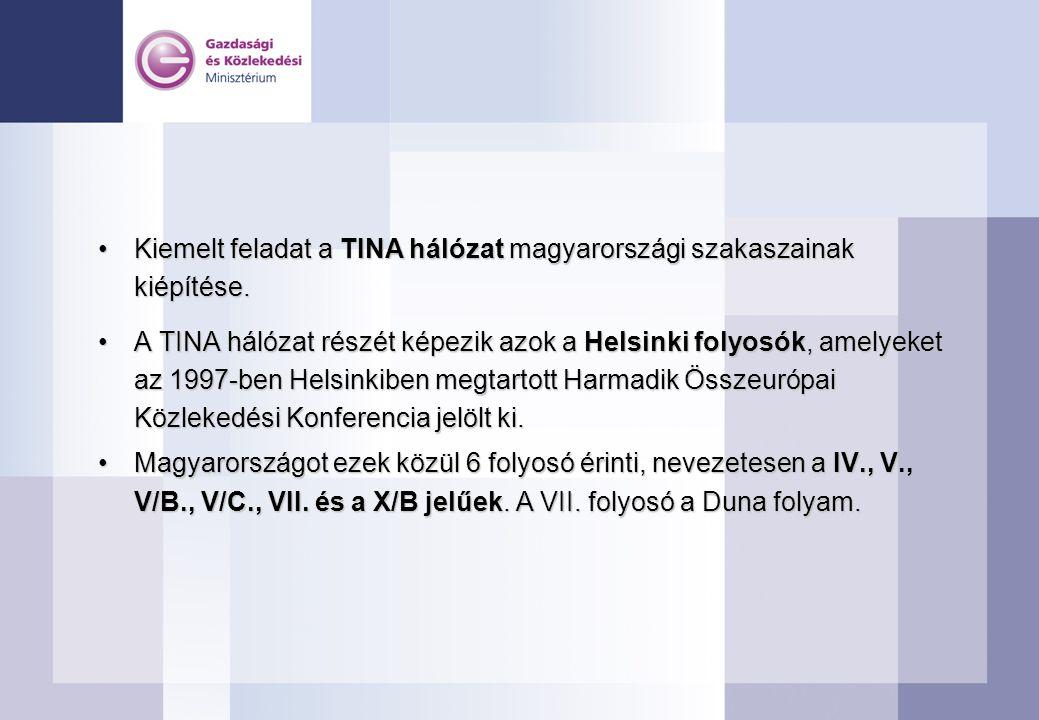 Kiemelt feladat a TINA hálózat magyarországi szakaszainak kiépítése.