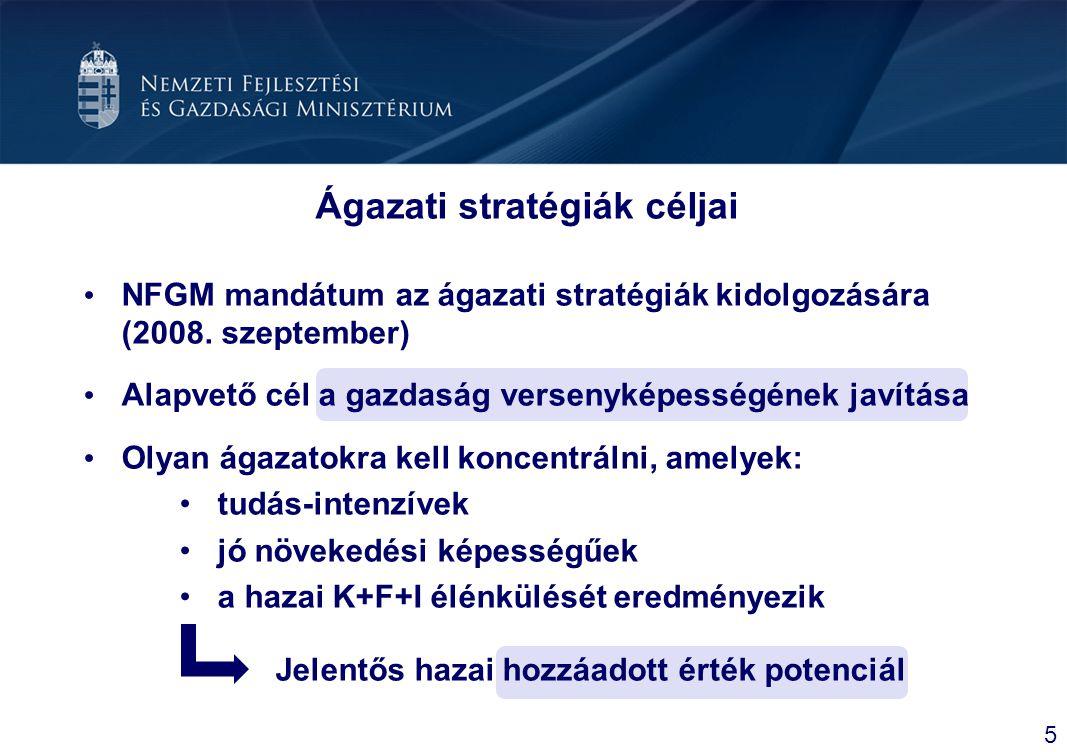 Ágazati stratégiák céljai