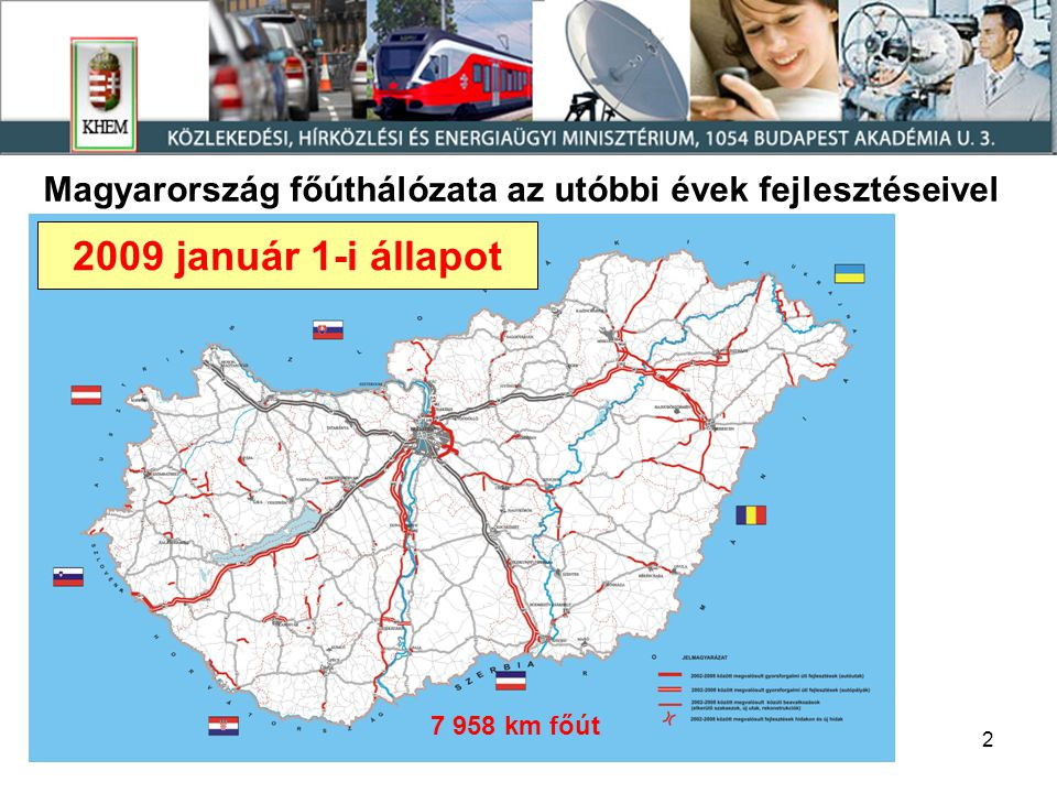 Magyarország főúthálózata az utóbbi évek fejlesztéseivel