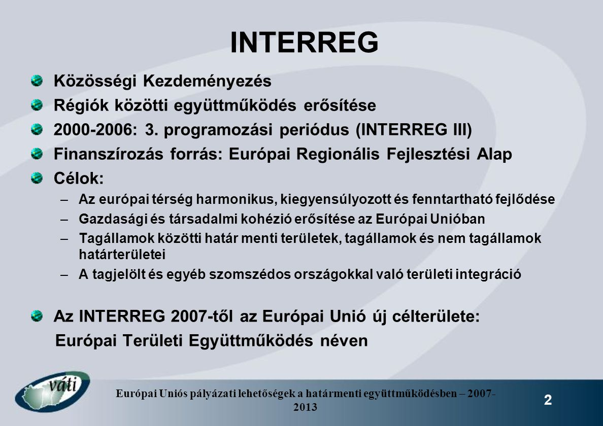 INTERREG Közösségi Kezdeményezés