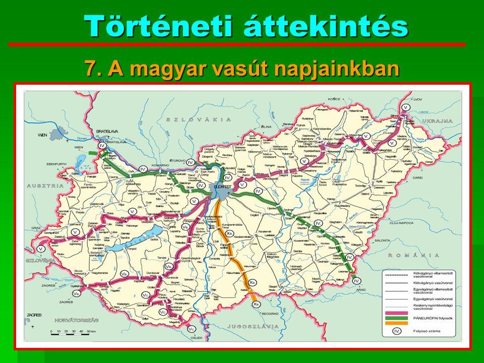 7. A magyar vasút napjainkban