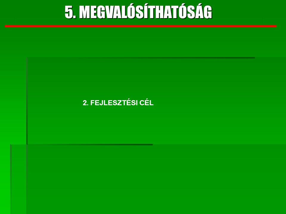 5. MEGVALÓSÍTHATÓSÁG 2. FEJLESZTÉSI CÉL