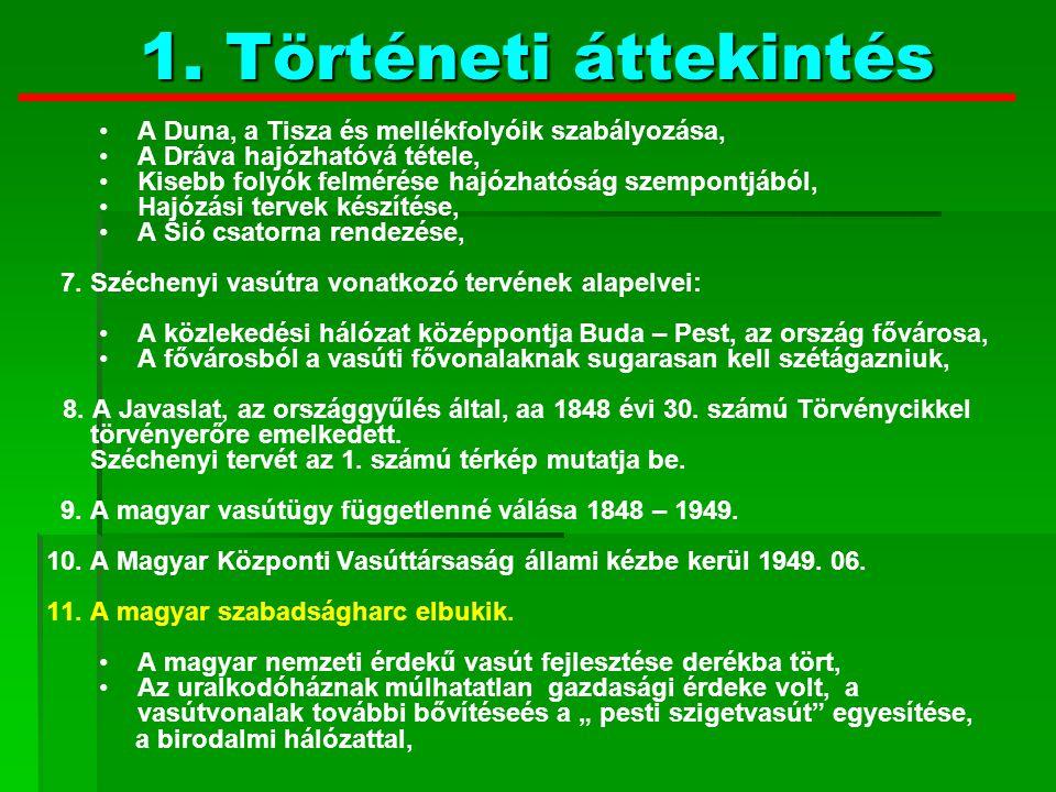 1. Történeti áttekintés A Duna, a Tisza és mellékfolyóik szabályozása,