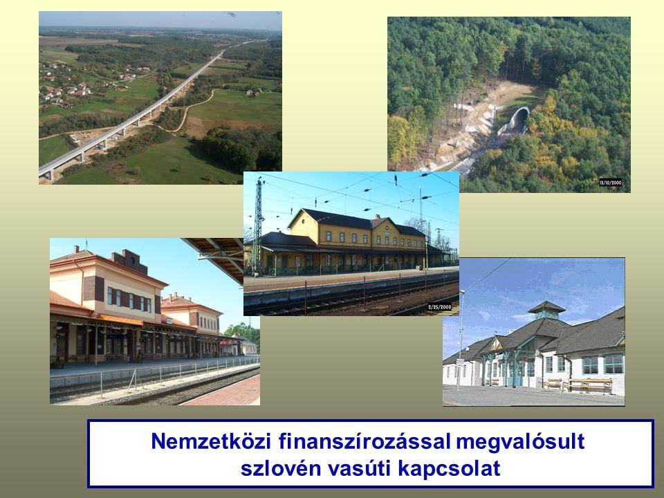 Nemzetközi finanszírozással megvalósult szlovén vasúti kapcsolat