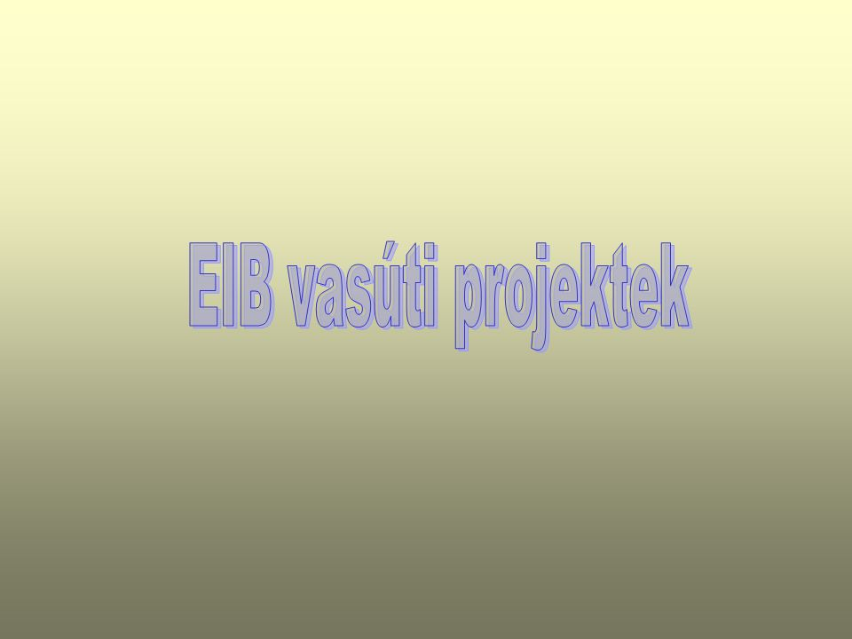 EIB vasúti projektek