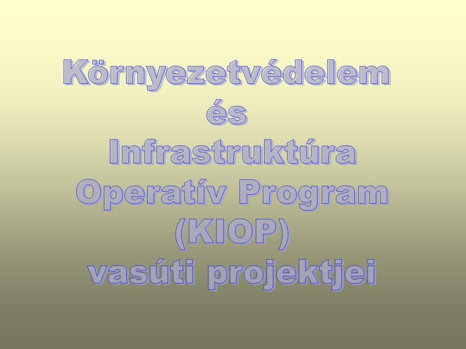 Környezetvédelem és Infrastruktúra Operatív Program (KIOP) vasúti projektjei