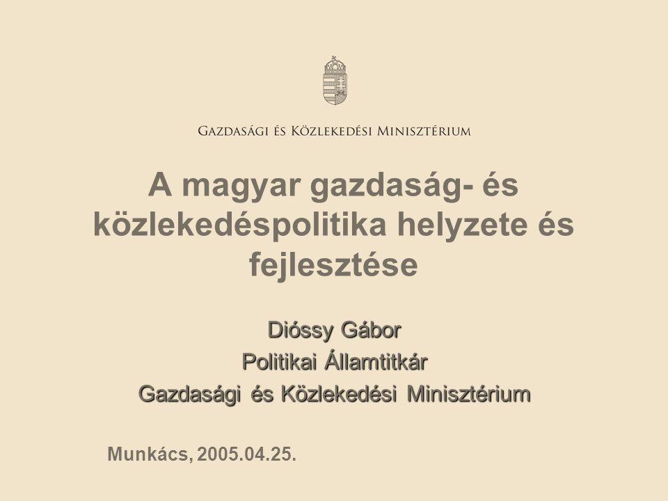 A magyar gazdaság- és közlekedéspolitika helyzete és fejlesztése