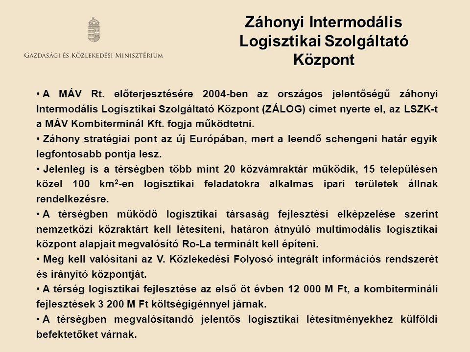 Záhonyi Intermodális Logisztikai Szolgáltató Központ