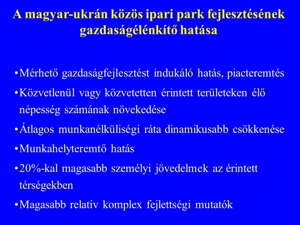 A magyar-ukrán közös ipari park fejlesztésének gazdaságélénkítő hatása