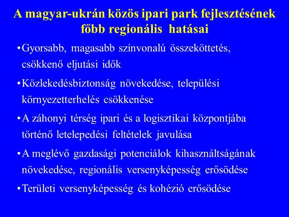 A magyar-ukrán közös ipari park fejlesztésének főbb regionális hatásai