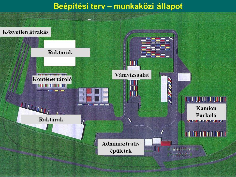 Beépítési terv – munkaközi állapot Adminisztratív épületek
