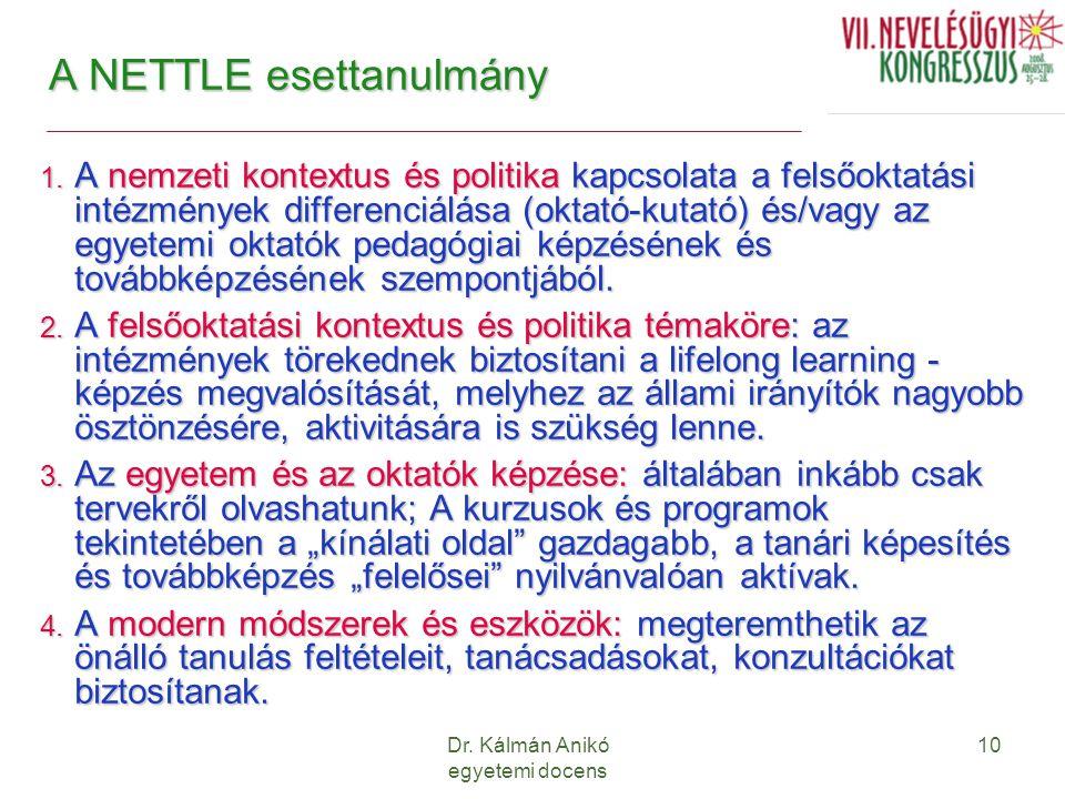 A NETTLE esettanulmány
