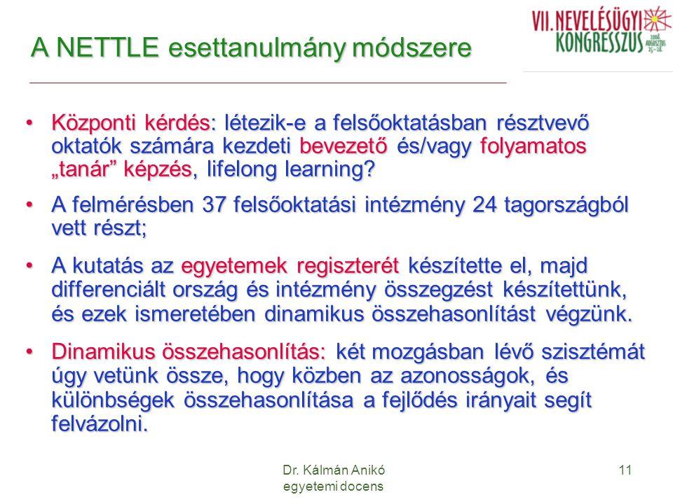 A NETTLE esettanulmány módszere