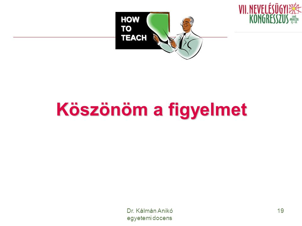 Dr. Kálmán Anikó egyetemi docens