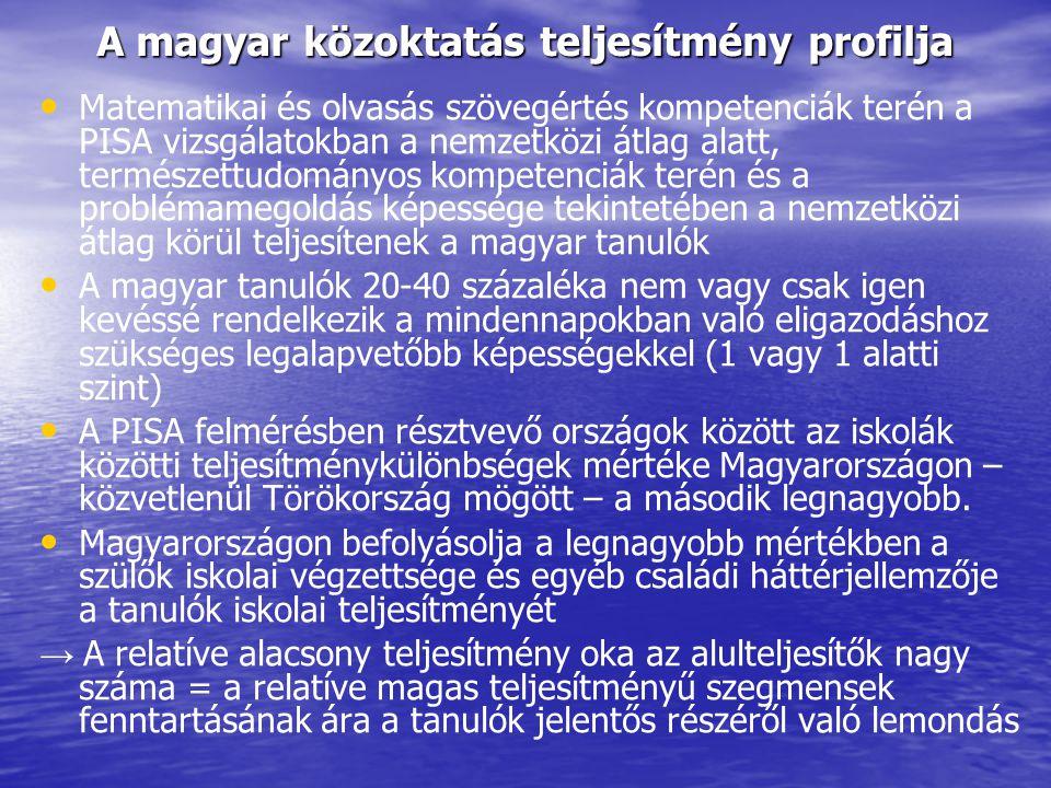 A magyar közoktatás teljesítmény profilja
