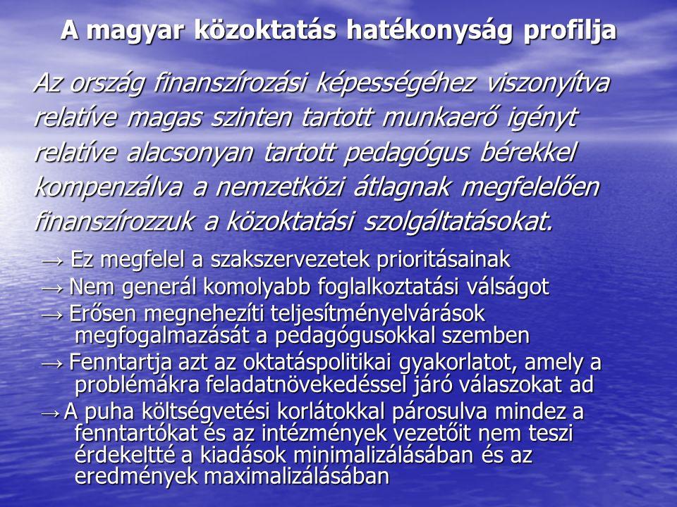 A magyar közoktatás hatékonyság profilja