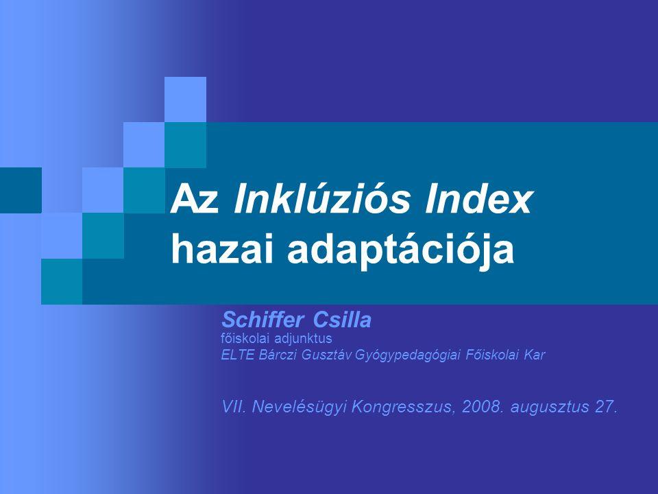 Az Inklúziós Index hazai adaptációja