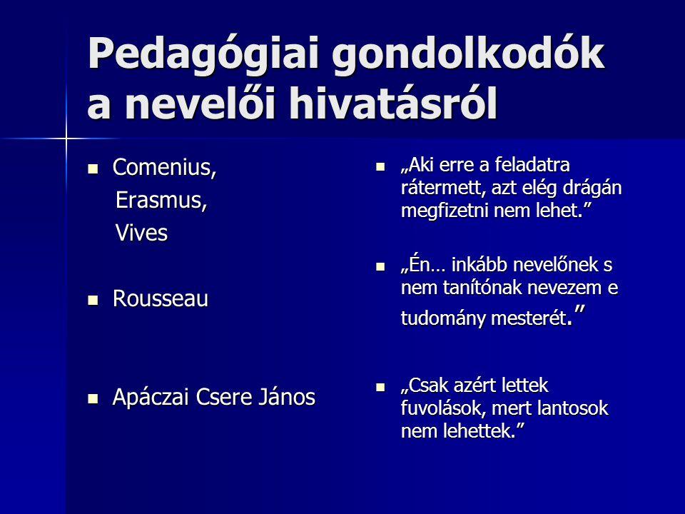 Pedagógiai gondolkodók a nevelői hivatásról