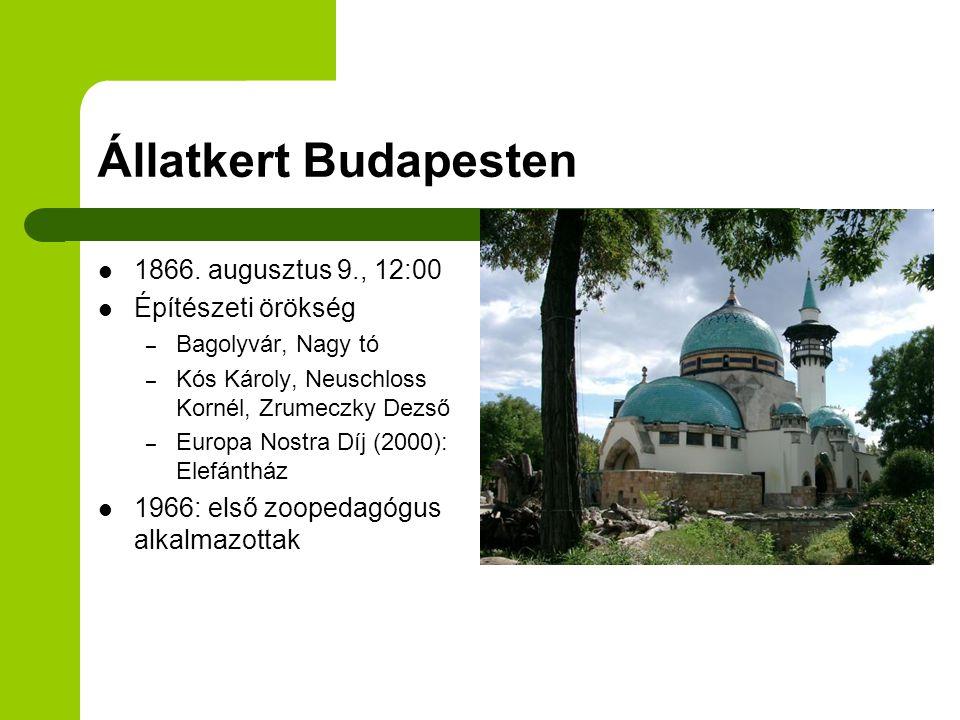 Állatkert Budapesten 1866. augusztus 9., 12:00 Építészeti örökség