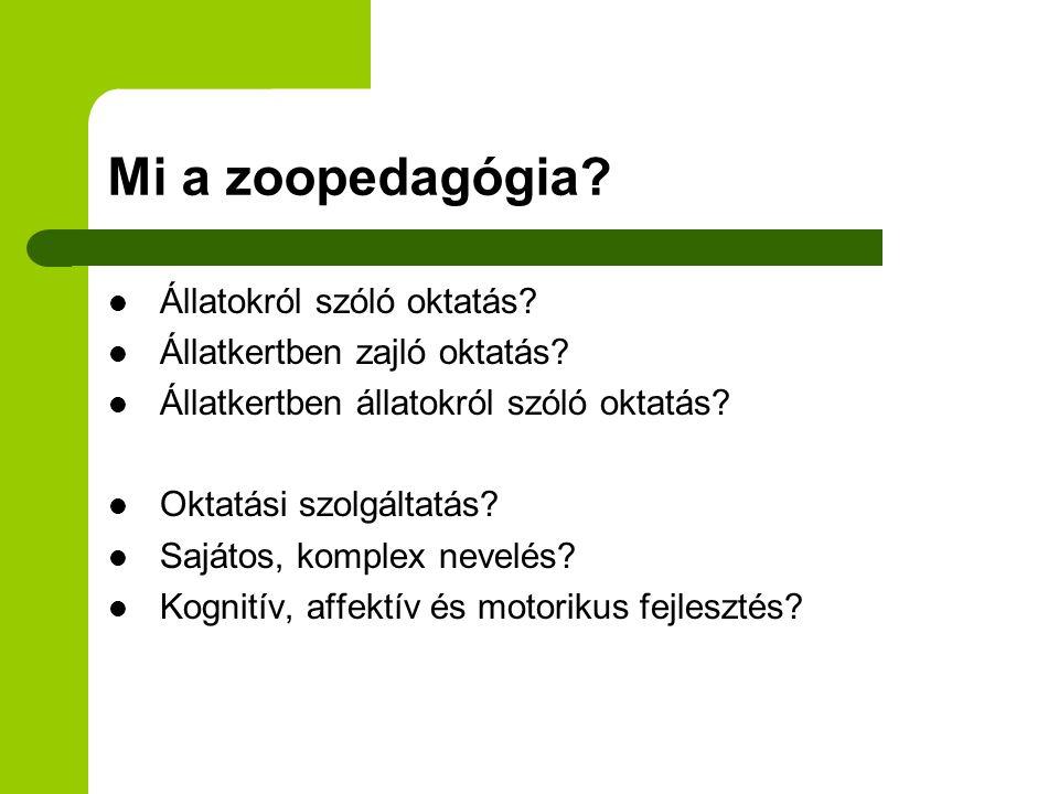 Mi a zoopedagógia Állatokról szóló oktatás
