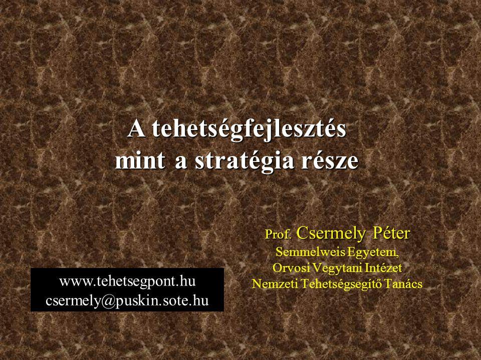 www.tehetsegpont.hu csermely@puskin.sote.hu