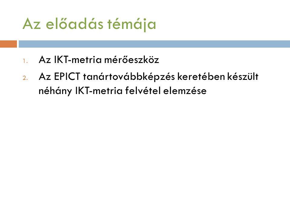 Az előadás témája Az IKT-metria mérőeszköz