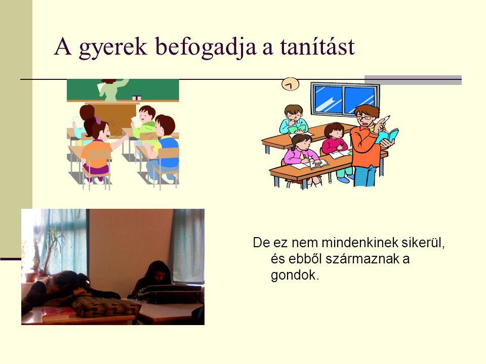 A gyerek befogadja a tanítást