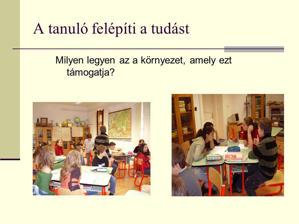 A tanuló felépíti a tudást