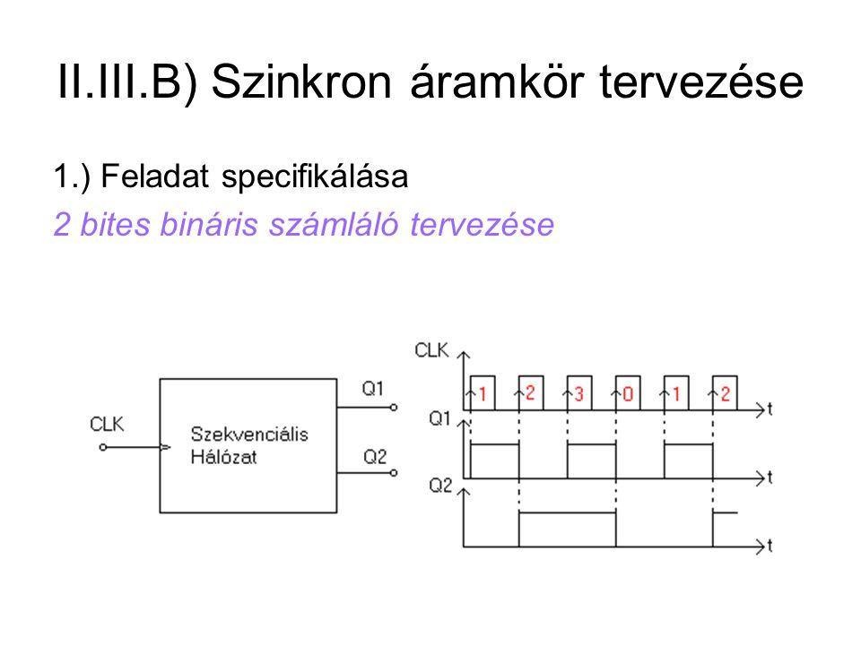 II.III.B) Szinkron áramkör tervezése