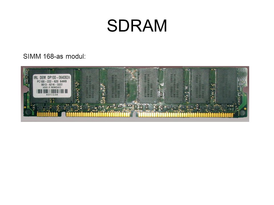 SDRAM SIMM 168-as modul: