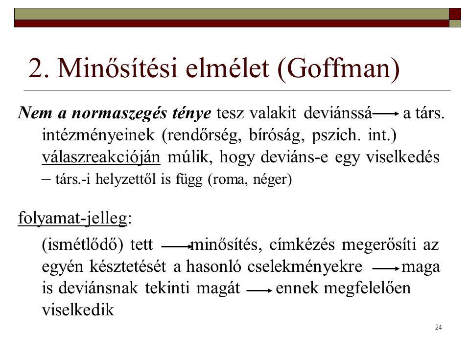 2. Minősítési elmélet (Goffman)