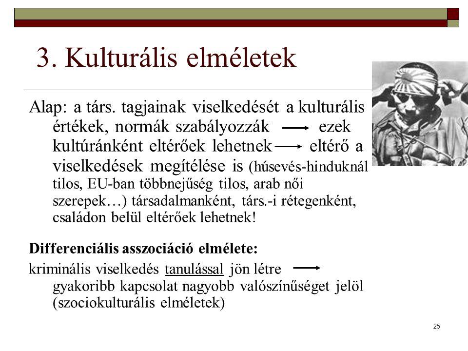 3. Kulturális elméletek