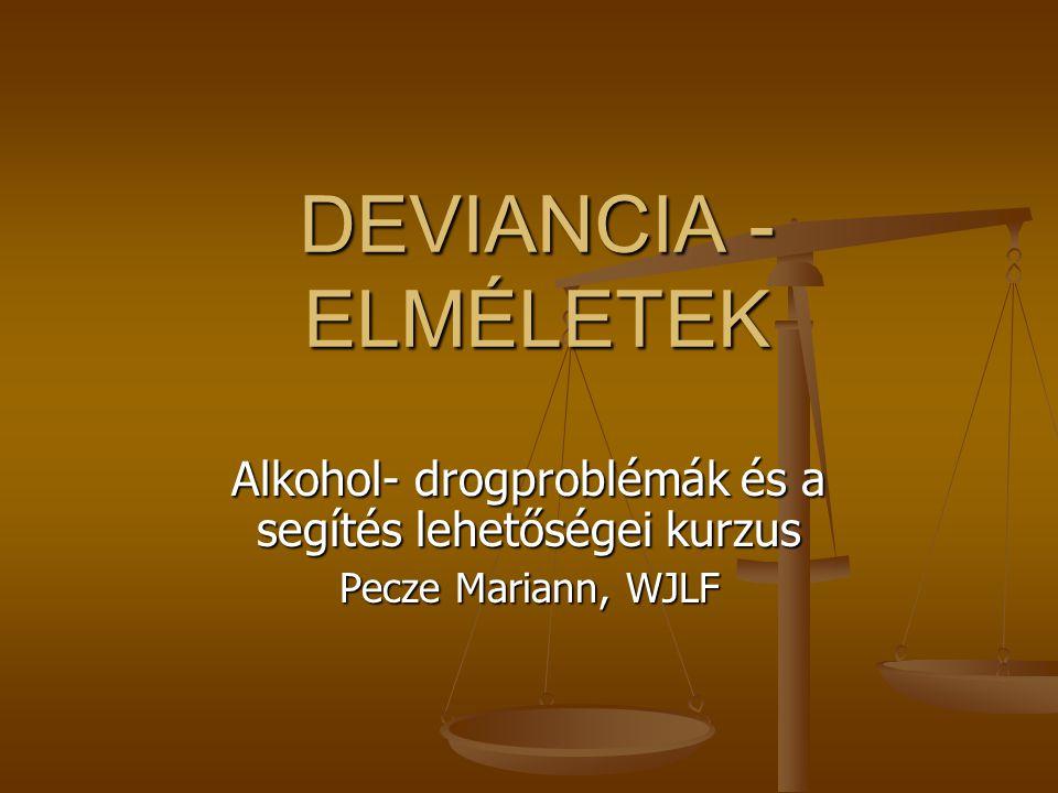 Alkohol- drogproblémák és a segítés lehetőségei kurzus