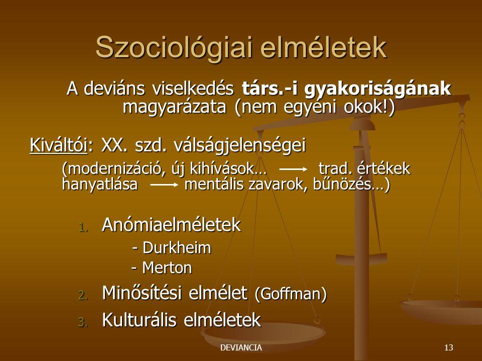 Szociológiai elméletek
