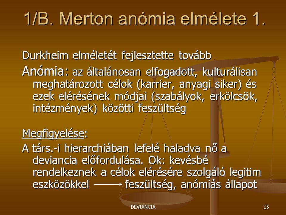 1/B. Merton anómia elmélete 1.