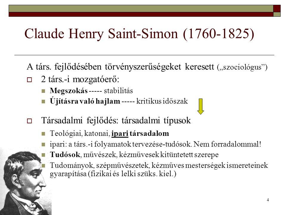 Claude Henry Saint-Simon (1760-1825)