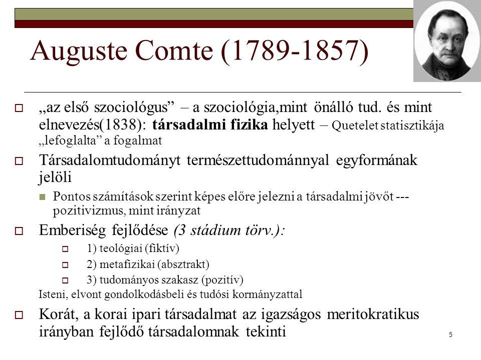 Auguste Comte (1789-1857)