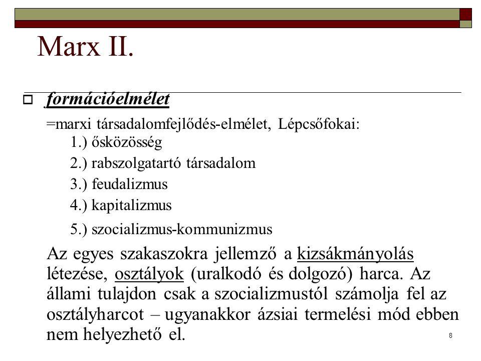 Marx II. formációelmélet