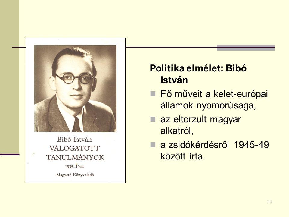 Politika elmélet: Bibó István