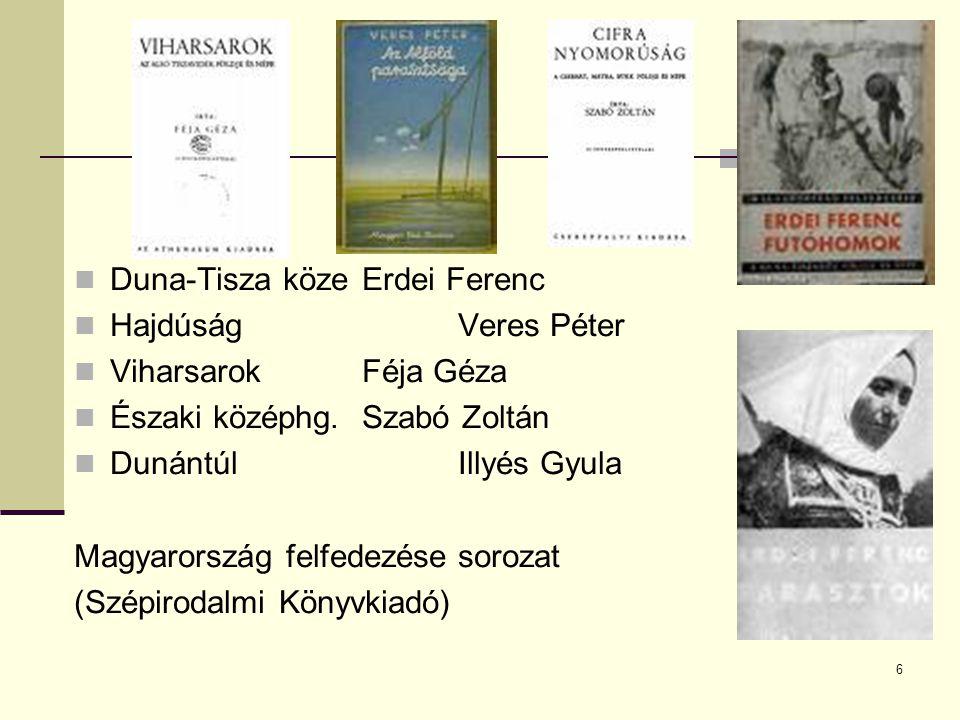 Duna-Tisza köze Erdei Ferenc