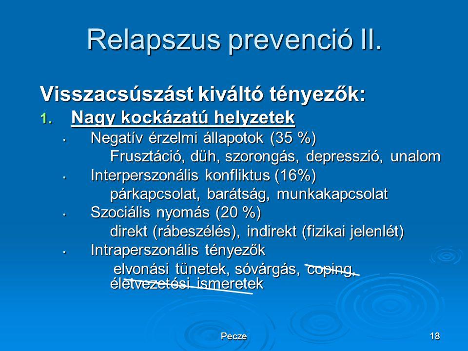 Relapszus prevenció II.