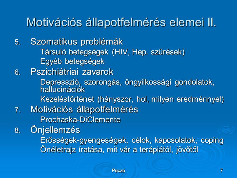 Motivációs állapotfelmérés elemei II.