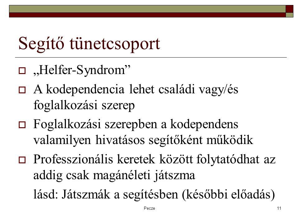 "Segítő tünetcsoport ""Helfer-Syndrom"