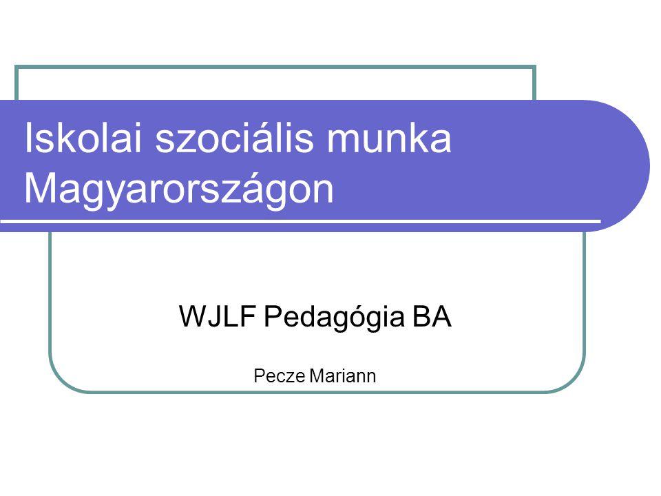 Iskolai szociális munka Magyarországon