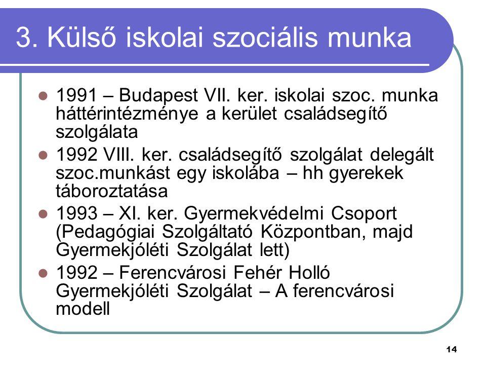 3. Külső iskolai szociális munka
