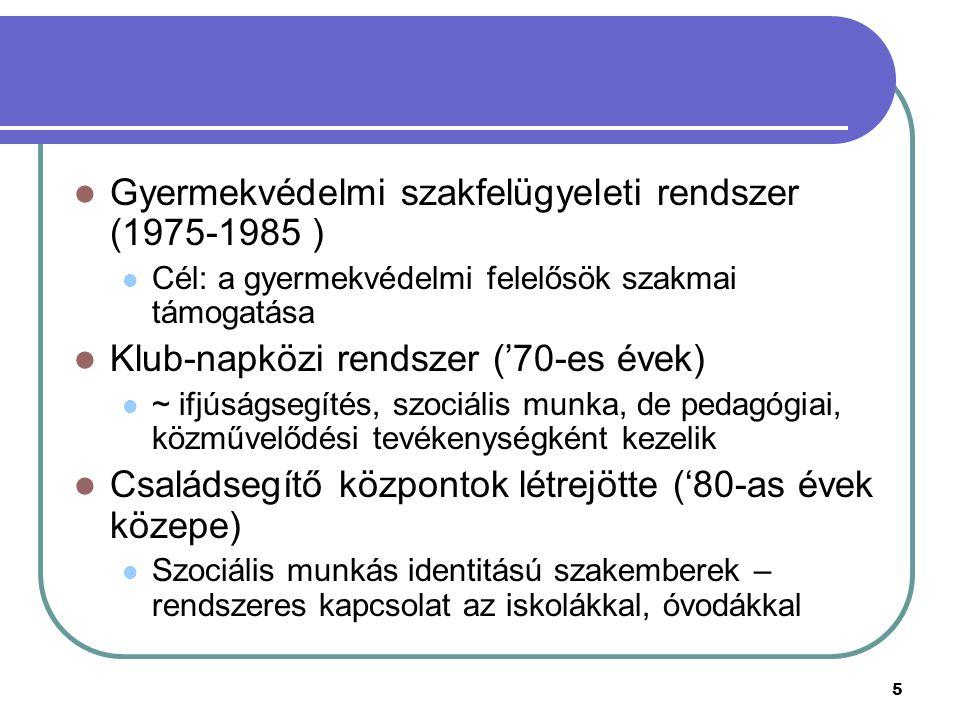 Gyermekvédelmi szakfelügyeleti rendszer (1975-1985 )