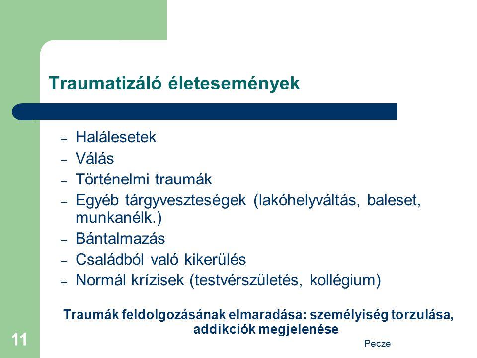 Traumatizáló életesemények