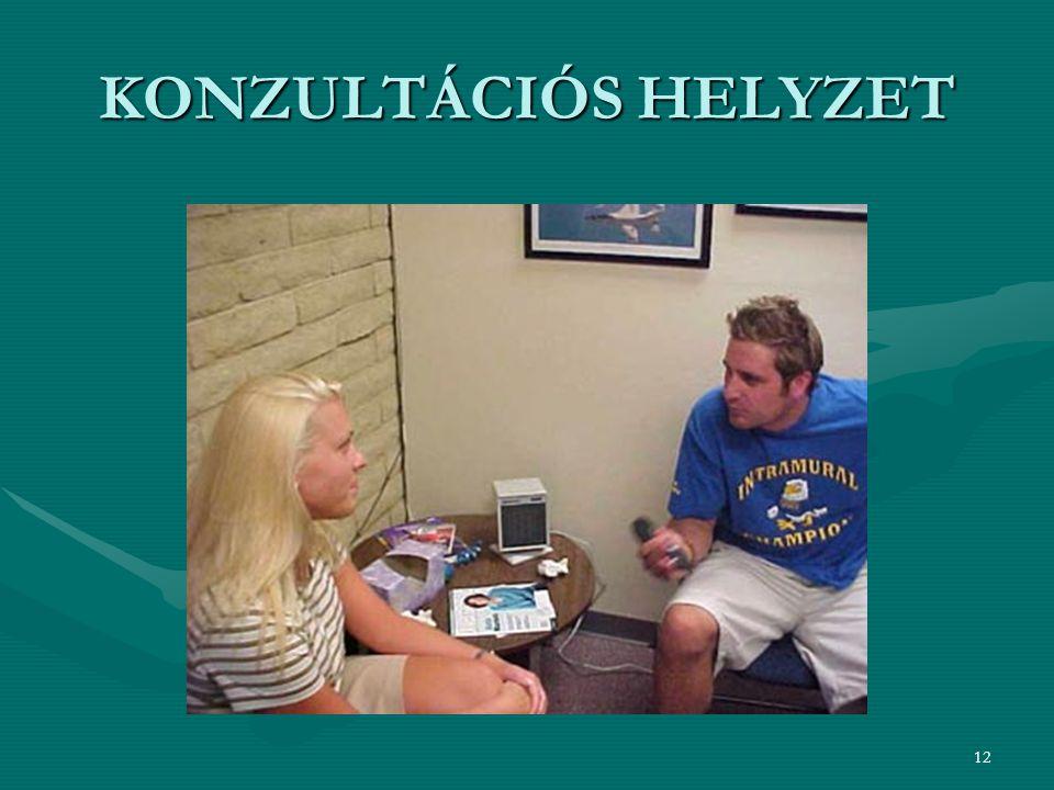 KONZULTÁCIÓS HELYZET